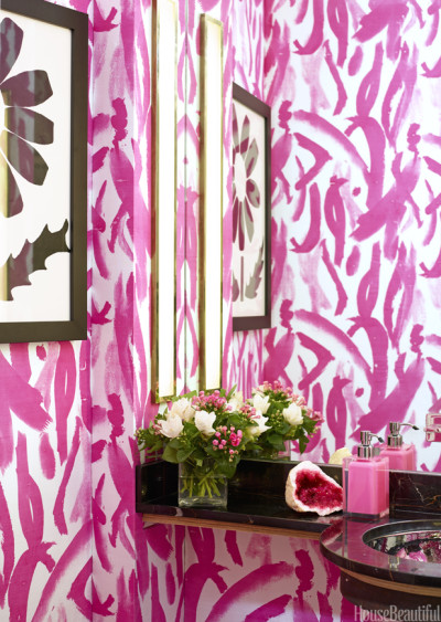 Pink paint wallpaper by Amanda Nisbet