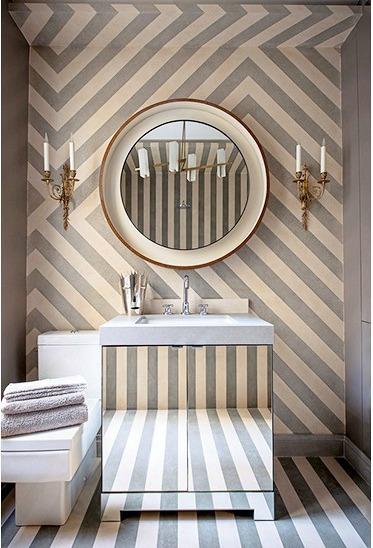 Bathroom Wallpapers Bold Stripes