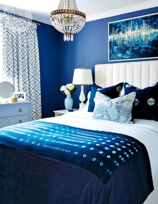 Classic blue & white bedroom
