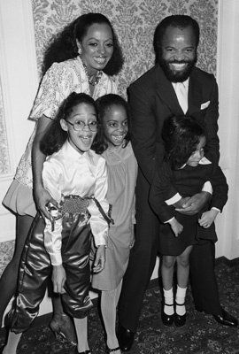 Diana Ross with her children & Berry Gordy