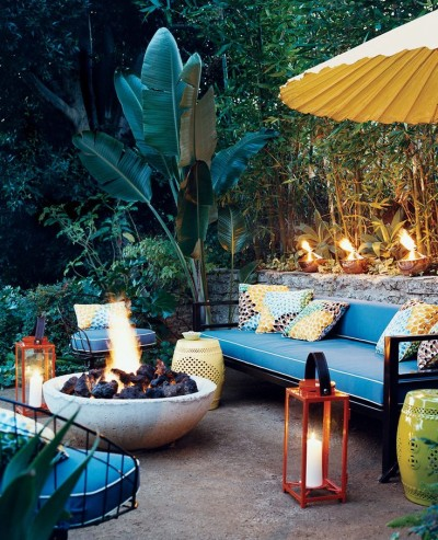 Patio w fire pit - Outdoor Rooms