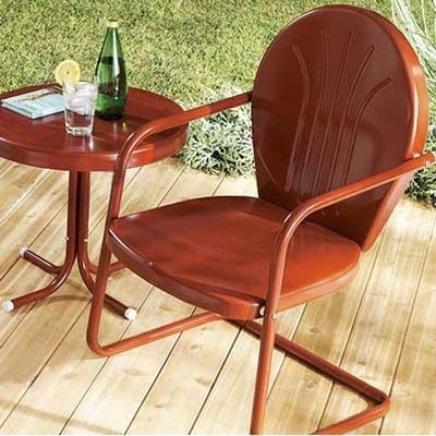 vintage metal outdoor chairs - Fab Outdoors