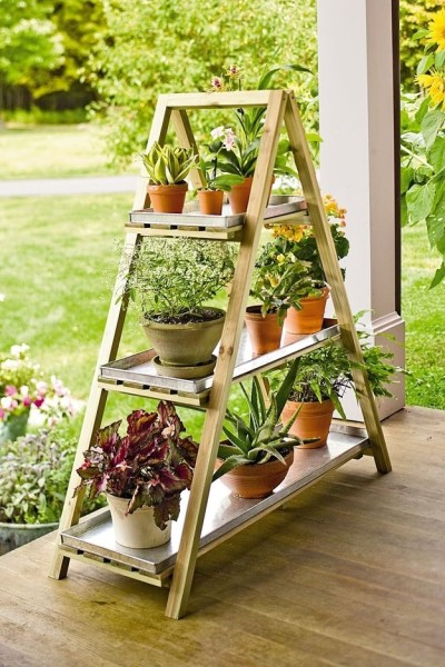 ladder flower garden - Fab Outdoors