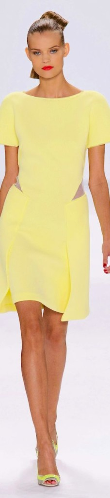 CAROLINA HERRERA - Custard dress Sp 2015 trends