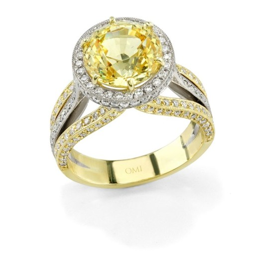 Custard yellow sapphire ring - Spring color trends