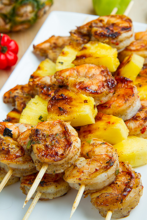 Grilled Jerk Shrimp and Pineapple Skewers - Outdoor Entertaining