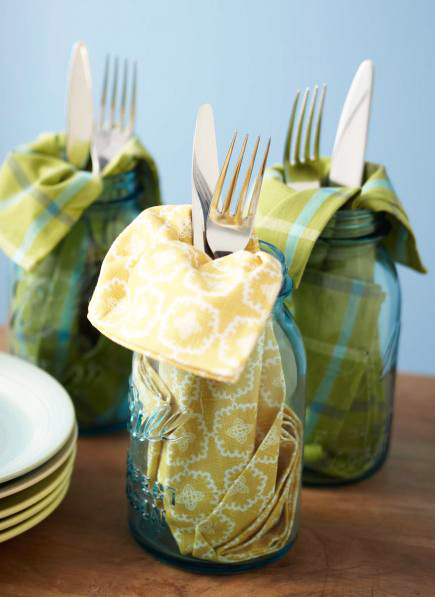 Mason jar silverware - Outdoor entertaining