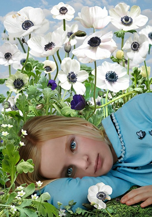 Ruud Van Empel - girl in garden
