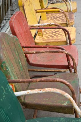 Vintage metal chairs - Fab outdoors