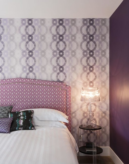 Tone on pattern in purple by The Novacratz HGTV