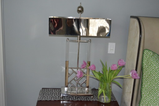 Silver Lamps - master bedroom