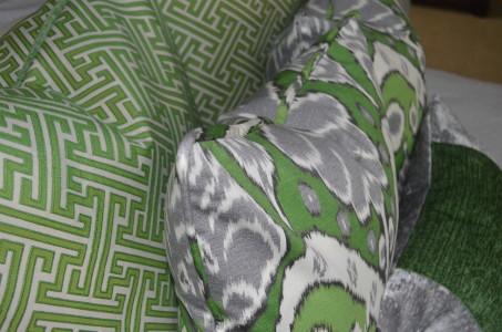 Pillow set - geen & gray
