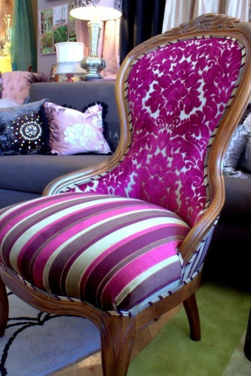 Brilliant purple chair