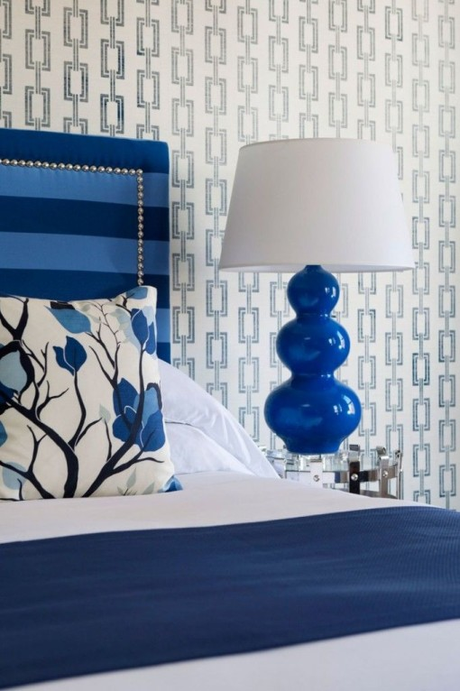 Romantic Blue Bedroom Ideas: Cobalt Blue