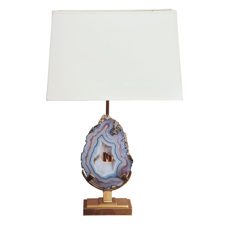Superior Willy Daro Blue Agate Table Lamp