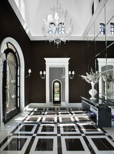 Black white decorating for Interior house designs black and white