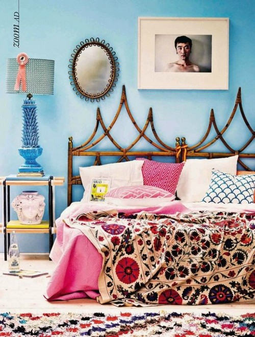 Boho chic bohemian modern decorating - Chic and stylish pink bedroom design ideas for all time girly look ...
