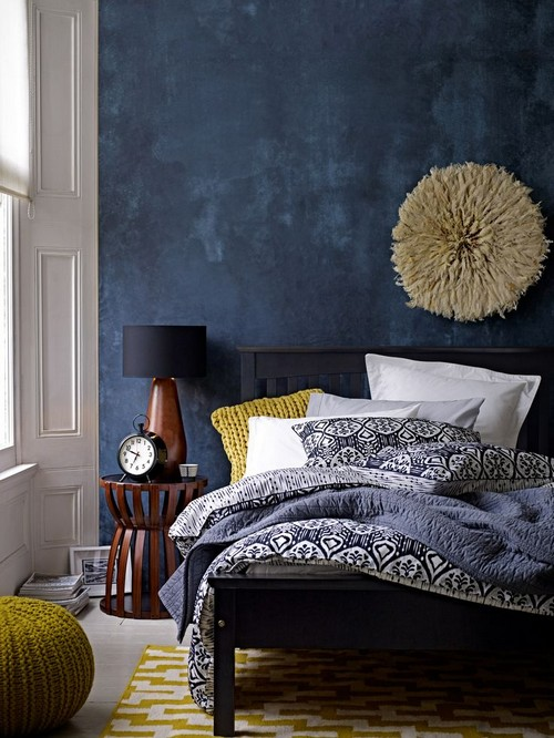 Bohemian Modern Bedroom In Blue