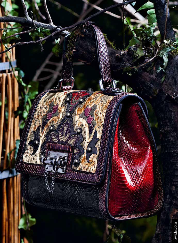 Dolce Gabbana Brocade Handbag Eastern Influences