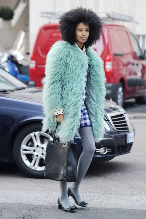 Faux Fur coat fabulous - warm & Fuzzy style