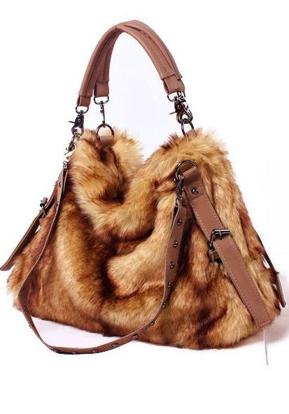 Faux fur mink sack handbag - warm & fuzzy