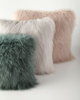 Fur pillows - warm & fuzzy