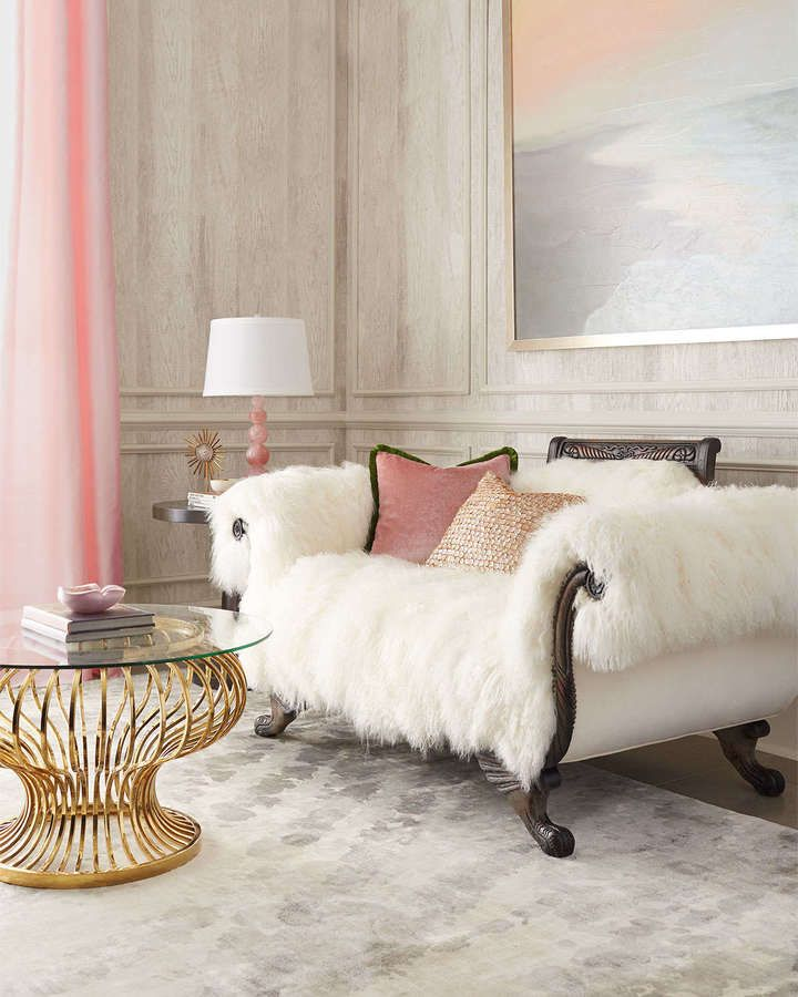 Fabulous Faux Fur Style Ideas To Warm Up Your Winter  : Fur sofa Horchow Warm Fuzzy from www.splendidhabitat.com size 720 x 900 jpeg 73kB