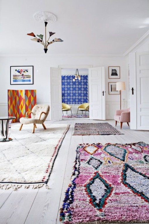 Morroccan rugs - warm & fuzzy decor