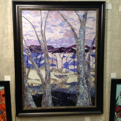 Fiber Collage Painting - Craft Council Show