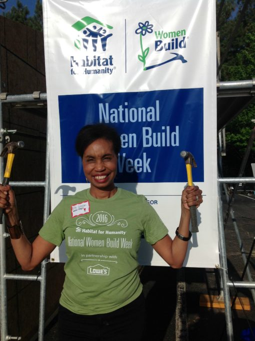 Women's build Lowes & Habitat for Humanity